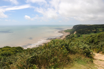 Hastings Country Park with its magnificent views is a 30 minute drive from our luxury seaside holiday cottage with 5***** excellent reviews, Marsh View Cottage in Camber Sands, Rye, East Sussex